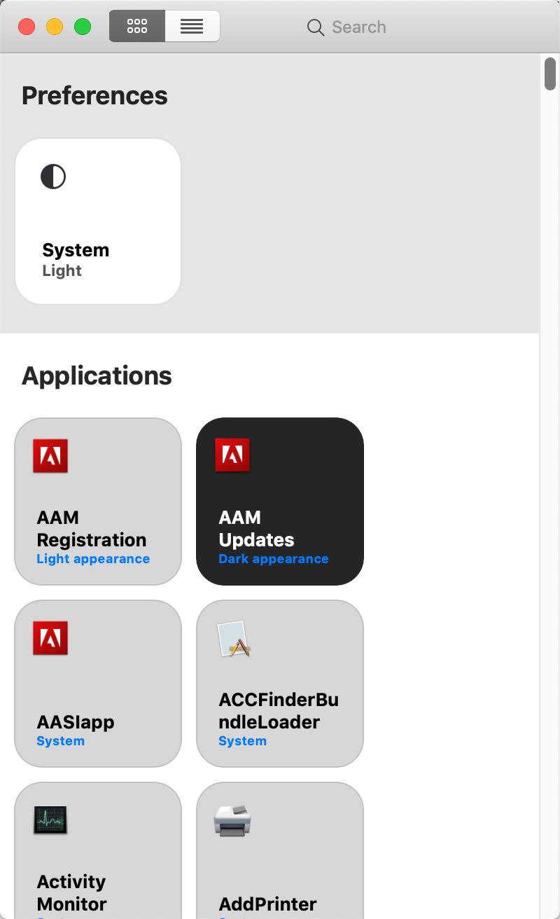 「Gray」Mac深色主题下也可指定想浅色显示的应用